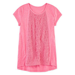 Arizona Short Sleeve Crochet Top - Girls 7-16 and Plus (copy)