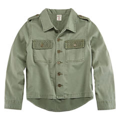 Arizona Crochet Button Up Shirt Jacket - Girls 7-16 and Plus