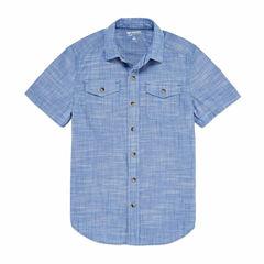 Arizona Boys Short Sleeve Button-Front Shirt - Boys 8-20 and Husky