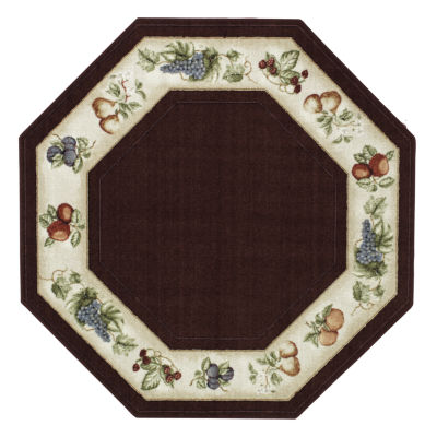 Wonderful Fresh Fruit Washable Octagonal Rug