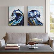 Madison Park Liquid Waves 2-pc. Canvas Art