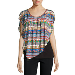 Alyx Short Sleeve Scoop Neck Knit Blouse
