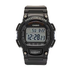 Casio Table Mens Black Strap Watch-W736h-2av