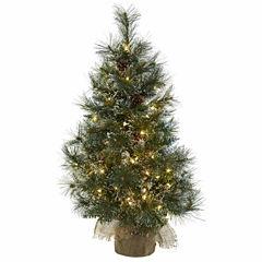 Nearly Natural 3ft Burlap Christmas Tree