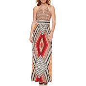 London Style Sleeveless Sheath Dress