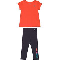 New Balance 2-pc. Pant Set Baby Girls