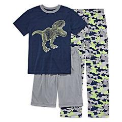 Arizona 3-pc.Dinosaur Short Sleeve-Big Kid Boys