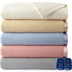 Micro Flannel Reverses to Sherpa Queen Heated Blanket