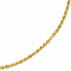 Solid 14K Gold Glitter Rope 18-30