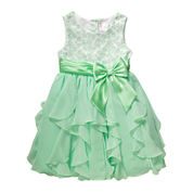 Youngland®  Cascade Dress - Preschool Girls 4-6x