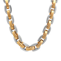 Mens Two-Tone Stainless Steel D-Link Chain