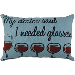 Park B. Smith® My Doctor Said I Needed Glasses Decorative Pillow