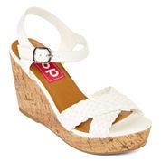 Pop Kirkland Womens Wedge Sandals