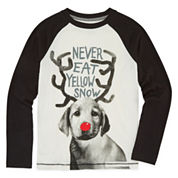 Arizona Long-Sleeve Graphic Raglan Tee - Boys 8-20