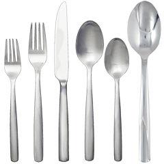 Ginkgo® Simple 42-pc. 18/10 Stainless Steel Flatware Set