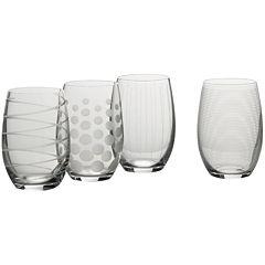 Mikasa® Cheers Set of 4 Stemless Wine Glasses