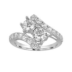 Two Forever™ 1½  CT. T.W. Diamond Two-Stone 14K White Gold Ring