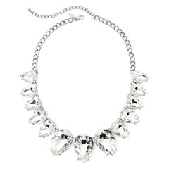 Natasha Oversized Crystal Silver-Tone Necklace