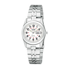Citizen® Womens White Dial Stainless Steel Bracelet Watch EQ0510-58A