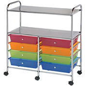 8-Drawer Double Storage Cart