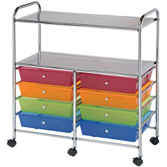 8-Drawer Double Storage Cart