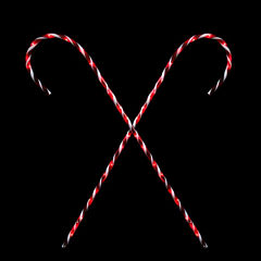 Set Of 2 Peppermint Twist Giant Lighted Candy CanePathway Markers Outdoor Christmas Decorations 60