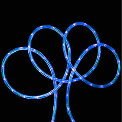 18' Blue LED Indoor/Outdoor Rope Lights with 2