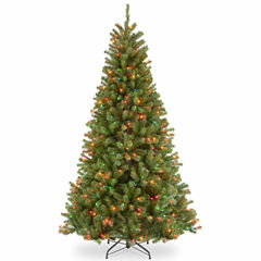 National Tree Co. 7 1/2 Foot North Valley Spruce Hinged Pre-Lit Christmas Tree
