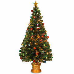 National Tree Co. 5 Foot Fiber Optic Evergreen Pre-Lit Christmas Tree