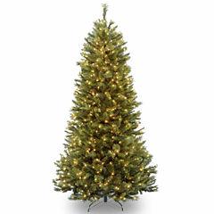 National Tree Co. 7 1/2 Foot Rocky Ridge Slim Pine Pre-Lit Christmas Tree