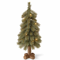 National Tree Co. 2 Foot Bayberry Spruce Blue Pre-Lit Christmas Tree