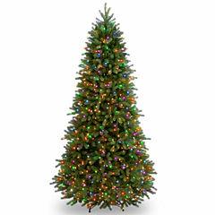 National Tree Co. 7 1/2 Foot Jersyey Fraser Slim Fir Pre-Lit Christmas Tree