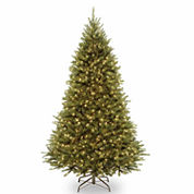 National Tree Co 7 1/2 Feet Kingswood Fir Hinged Pre-Lit Christmas Tree