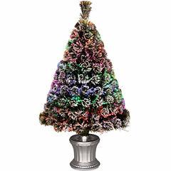 National Tree Co. 3 Foot Evergreen Flocked Pre-Lit Christmas Tree