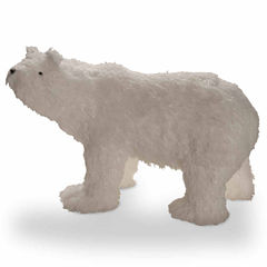 National Tree Co. Soft Cotton Fabric Polar Bear Animal Figurines