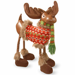National Tree Co. Polyester Moose With Jacket Animal Figurines