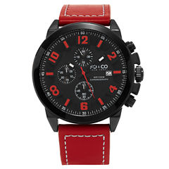 So & Co Mens Red Strap Watch-Jp15944