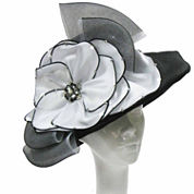 Whittall & Shon Derby Hat Sailor W Medallion Bow And Brooch