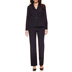 Le Suit Long Sleeve 2-Button Striped Pant Suit