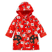 Pink Platinum Girls Ladybug Raincoat-Toddler