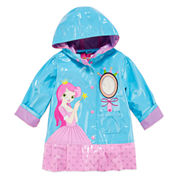 Pink Platinum Girls Princess Raincoat-Toddler