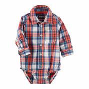 Oshkosh Red Plaid Bodysuit - Baby