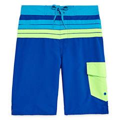 Arizona Boys Solid Swim Trunks-Big Kid