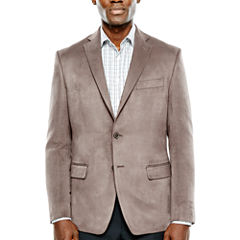 Collection by Michael Strahan Taupe Faux Suede Sport Coat-Classic
