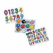 Melissa & Doug Classic Peg Puzzle Bundle- 3 PuzzleBundle
