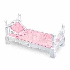 Melissa & Doug® Wooden Doll Bed