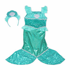 Melissa And Doug 2-Pc. Mermaid Role Play Set Dress Up Costume
