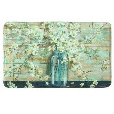 Bacova Guild Blossoms In Jar Rectangular Kitchen Mat