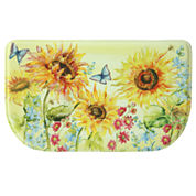 Bacova Guild Watercolor Sunflower Printed Wedge Anti-Fatigue Rugs