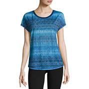 Made For Life Short Sleeve Lattice Print T-Shirt